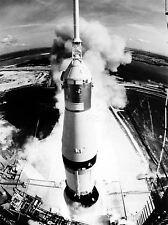PRINT POSTER SPACE ROCKET LAUNCH SATURN V APOLLO 11 VIEW THRUST BLAST NOFL1045
