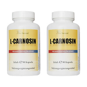 L-Carnosin 500mg 180 Kapseln vegan, 2 mal 90 Kapseln Sparpaket