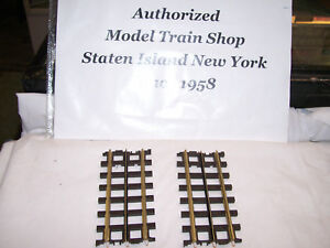 """2 Pack MTH Scale Trax Solid Nickel Rail # 45-1012 ( 4.25"""" )Straight Sections NEW"""