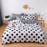 3D Black White Dots Love KEP8594 Bed Pillowcases Quilt Duvet Cover Kay