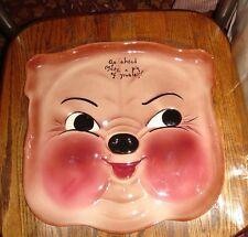 VTG MCM 1957 DEFOREST PIGGY PLATTER UCTI JAPAN PIG DINNER BELL SPOON REST LOT 3