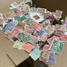WW STAMPS BOX LOT OFF PAPER. THOUSANDS OF STAMPS, OVER 50 WORLDWIDE COUNTRIES