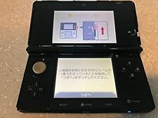Used Nintendo 3DS Clear Black Console from JAPAN Free Shipping w/Tracking#