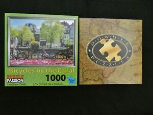 2--DOWDLE PUZZLE SOUTH BEACH  500 PCS & Bicycles by the Canal, Puzzle Passion