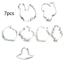 Fall Thanksgiving Cookie Cutter 7 Pc/Set Biscuit Fondant Cutters Stainless