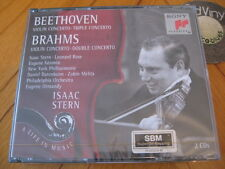 SEALED 2 CD BOX ISAAC STERN Beethoven Brahms Violin Concerto Double Concerto´95