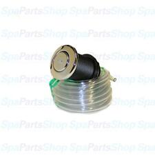 "Whirlpool Bath Tub Pump Chrome Jet Air Button & Tubing Kit 1-3/8"" 951590-738"