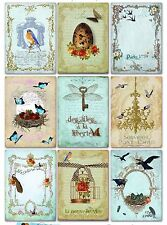 9 French Ephemera Shabby Chic Hang Tags Scrapbooking Paper Crafts (178)