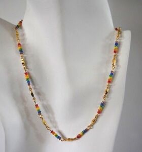 14KTGOLD BY THE INCH RAINBOW CHAIN NECKLACE,BRACELET,14KT GOLD CLAD BONDED