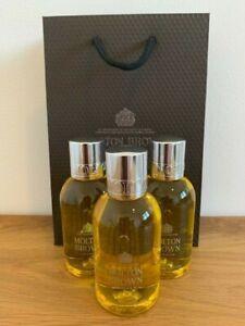 Molton Brown 3 x 100ml Bushukan Shower Gel & Molton Brown Gift Bag