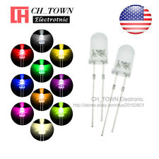 10 Lights 1000pcs 5mm Led Diodes Water Clear White Red Purpleuv Pink Mix Kits
