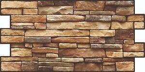 PVC Plastic Wall Panels 3D Decorative Tiles Cladding - Slate Stone Effect 0.96m2