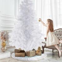 6/7Ft Christmas Tree Artificial Full Tree 600-700Tip with Metal Stand White US