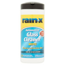 Rain-X x25 AUTOMOTIVE GLASS CLEANER PRE-MOISTENED WIPES Safe for Tinted Windows
