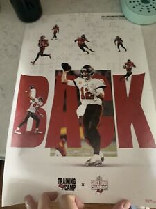 TAMPA BAY BUCCANEERS 2021 COMMEMORATIVE SEASON POSTER NUMBERED RARE TOM BRADY CO