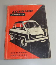 Betriebsanleitung / Handbuch Zündapp Janus 250 Jan. 1958
