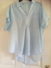 Whistles -- Lea Stripe Shirt - White-Blue -  - Size - L - 16
