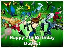 "Ben 10 Personalised A4 Cake Topper Edible Wafer Paper Birthday Party 7.5"" By 10"""