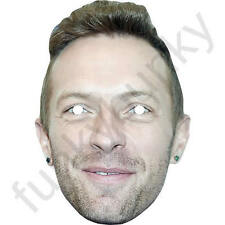 Chris Martin Coldplay Celebrity Singer Card Face Mask,All Masks Are Pre-Cut***
