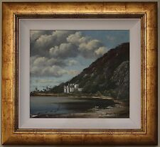 Original Authentic Oil Painting KYLEMORE ABBEY by Irish Artist JOSEPH MCLOUGHLIN