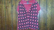 Womens Plus Size 3x Red Polo Shirt Sixteen Plus Brand Dressy