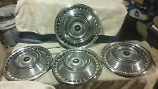 "1977 1978 Chevy Bowtie Emblem 14"" Wheel Covers Complete Set of 4 OEM Chevrolet"