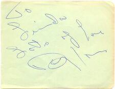 Davy Jones signed autograph album page 1960 American soul singer Amapola Beatles