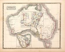 Australia with the British Settlements 1848 75cm x 60cm High Quality Art Print