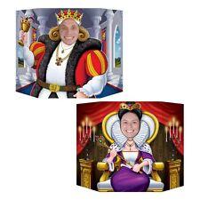King & Queen foto di scena ritaglio - 94 x 64 cm-Medievale Standing PARTY DECORAZIONI