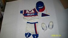 fits CABBAGE PATCH KIDS BOYS BASEBALL OUTFIT WHITE SOX COMPLETE