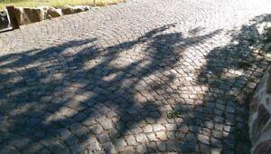Granitpflaster, anthrazit, gebraucht, Kleinpflaster, Pflastersteine 9/11er