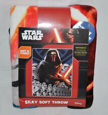 NEW STAR WARS THE FORCE AWAKENS LEAD FORCE SOFT THROW BLANKET KYLO REN