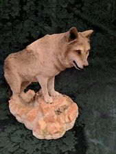 "Living Stone Wolf ""Lookout"" Figurine Statue Resin"