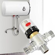 Brass G1/2 Thermostatic Mixing Valve Solar Faucet Water Heater for Bidet Sprayer
