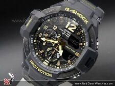 * Nuovo * Da Uomo Casio G SHOCK GRAVITY Master Gold Watch Twin Sensor ga1100-1a RRP £ 299