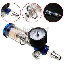 Scratch Air Pressure Regulator Gauge Spray Gun & In-Line Water Trap Filter Tool