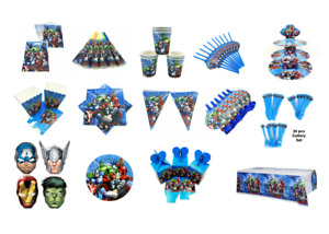 Marvel's AVENGERS - Party Supplies -Tableware - Decorations - Banners - Balloons