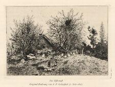 Albert theodor gellerstedt (1836 västermo - 1914 stockholm): elsternest. Gravure