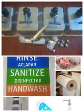 4 Compartment Portable Concession Sink Amp Drain Kit 3 Large 1 Standard Withextras
