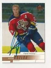 00/01 Upper Deck Autographed Hockey Card Viktor Kozlov Florida Panthers