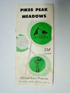 Vintage 1967 Pikes Peak Meadows Official Horse Racing Program Fountain CO