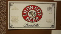 OLD USA AMERICAN BEER LABEL, PITTSBURGH BREWING Co, IRON CITY BEER 12 OZ 2