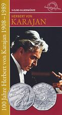 Österreich 5 Euro 2008 Silber Herbert von Karajan hgh im Blister