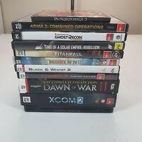 PC Games - Bulk Bundle Lot - Box of 11 Titles.