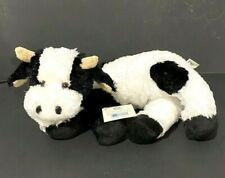 "Princess Soft Toys Longfellow Maddy Moo Beanbag Plush Cow 2005 Black White 18"""
