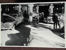 "12 By 18"" Black & White Picture 1946 Mercury large dealer auto show"