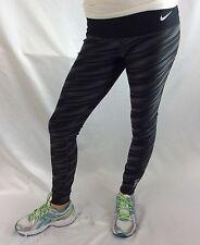 NIKE Pro Women's Dri Fit Leggings Black Print USC Size L