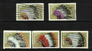 USA - Indian Headdresses Booklet Issue - 1990