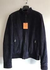TOD'S Iconic Suede Bomber Jacket Size L RRP £2390