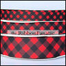 "3yds Red Black Buffalo Plaid Check 5/8"" 7/8"" 1.5"" Grosgrain Ribbon"